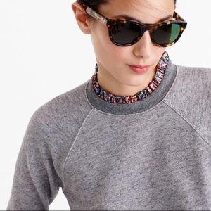 J. Crew Metallic Ruffle Neck Sweatshirt Size XS